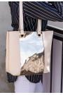 Krem Cilt Gold Hologram Detaylı Çanta
