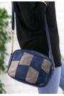 Lacivert Cilt Vizon Detaylı Çanta