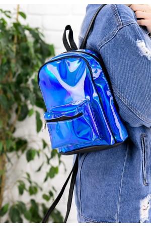 Mavi Hologram Sırt Çantası