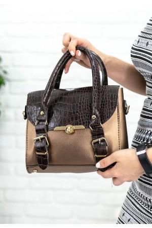 Siyah Cilt Altın Detaylı Çanta