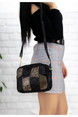 Siyah Cilt Platin Detaylı Çanta