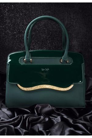 Yeşil Taşlı Bayan Çanta