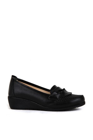 BA - Annamaria 011 Zenne 20/K Cilt Comfort Ayakkabı - Siyah Siyah