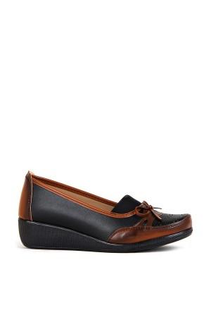 BA - Annamaria 011 Zenne 20/K Cilt Comfort Ayakkabı - Siyah Taba
