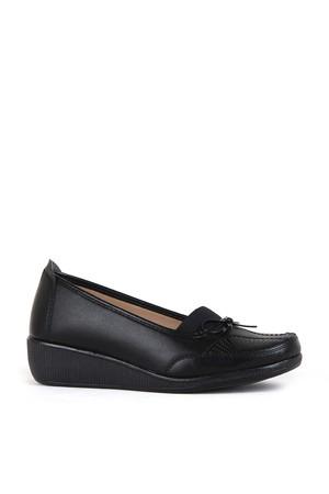 BA - Annamaria 013 Zenne 20/K Cilt Comfort Ayakkabı - Siyah - Siyah