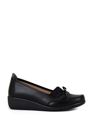 BA - Annamaria 014 Zenne 20/K Cilt Comfort Ayakkabı - Siyah - Siyah