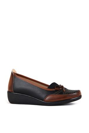 BA - Annamaria 014 Zenne 20/K Cilt Comfort Ayakkabı - Siyah - Taba