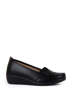 BA - Annamaria 015 Zenne 20/K Cilt Comfort Ayakkabı - Siyah - Siyah