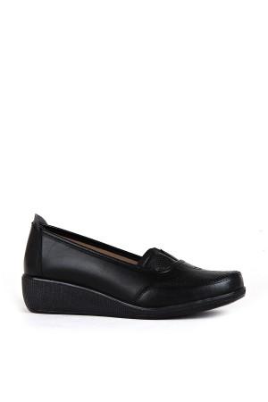 BA - Annamaria 016 Zenne 20/K Cilt Comfort Ayakkabı - Siyah - Siyah