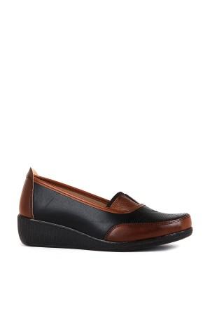 BA - Annamaria 016 Zenne 20/K Cilt Comfort Ayakkabı - Siyah - Taba