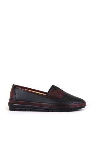 BA - Annamaria 83 (37-41) Zenne 20/K Cilt Comfort Ayakkabı - Siyah Bordo