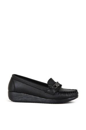 BA - Annamaria T-02 Zenne Cilt Comfort Ayakkabı - Siyah
