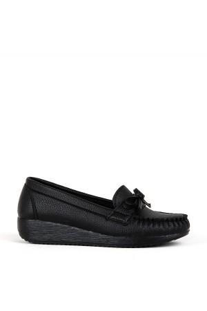 BA - Annamaria T-06 Zenne Cilt Comfort Ayakkabı - Siyah