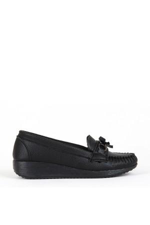 BA - Annamaria T-07 Zenne Cilt Comfort Ayakkabı - Siyah