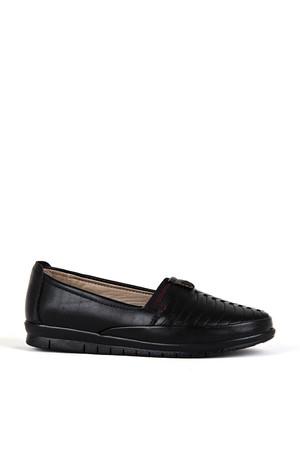 BA - Estelle 112 Zenne 20/K Cilt Comfort Ayakkabı - Siyah