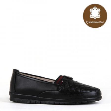 BA - Estelle 114 Zenne 20/K Cilt Comfort Ayakkabı - Siyah