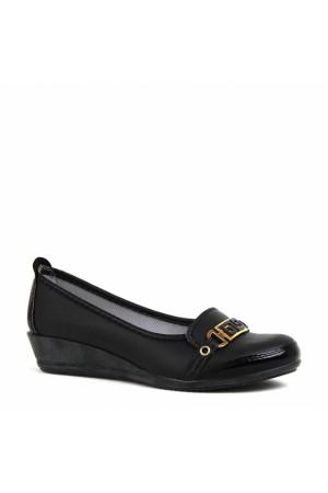 BA - Özat 303 Zenne Cilt Comfort Ayakkabı - Siyah