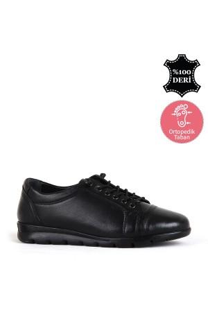 BA - Wonder 40882 Zenne 20/K Deri Comfort Ayakkabı (10'lu) - Siyah
