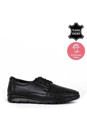 BA - Wonder 40888 Zenne 20/K Deri Comfort Ayakkabı (10'lu) - Siyah
