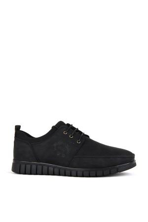 KND - Darkking 505 Bağlı Erkek 20/K Cilt Casual Ayakkabı - Siyah