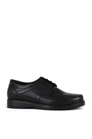 KND - Frank Peter 130 Erkek 20/K Deri Comfort Ayakkabı - Siyah