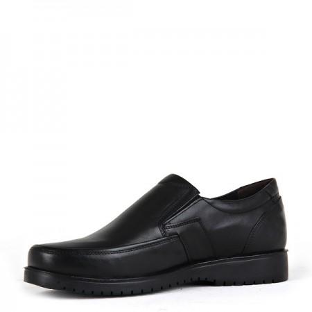 KND - Frank Peter 135 Erkek 20/K Deri Comfort Ayakkabı - Siyah