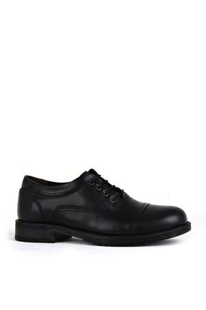 KND - Frank Peter 250 Erkek 20/K Deri Casual Ayakkabı - Siyah
