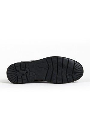 KND - Frank Peter 345 Erkek 20/K Deri Casual Ayakkabı - Siyah