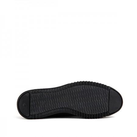 KND - Frank Peter 687 Erkek 20/K Deri Casual Ayakkabı - Siyah