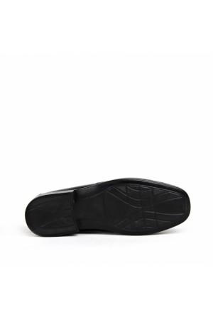KND - Frank Peter A-01 Erkek Deri Casual Ayakkabı - Siyah