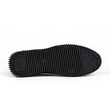 KND - Frank Peter G-2079 Erkek 20/K Deri Casual Ayakkabı - Siyah