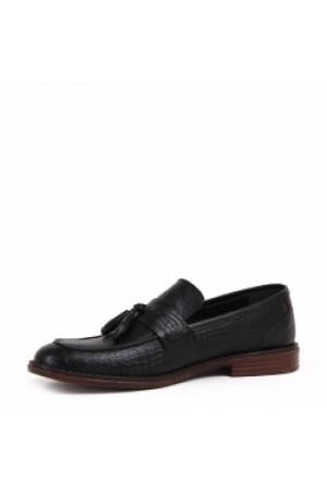 KND - Frank Peter P-01 Erkek Deri Casual Ayakkabı - Siyah