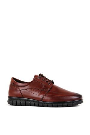 KND - Frank Peter S-255 Erkek 20/K Deri Comfort Ayakkabı - Kahve