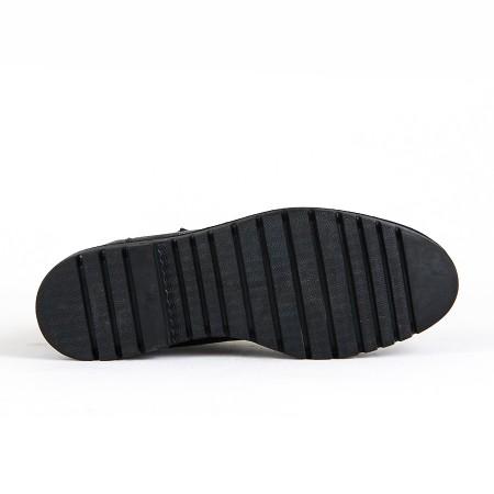 KND - Sümer 300 Erkek Cilt Casual Ayakkabı - Siyah