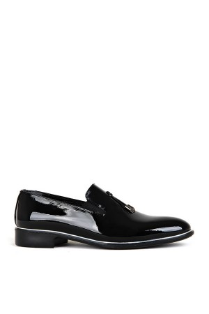 KND - Tamboğa 560 Erkek 20/K-Y Rugan Klasik Ayakkabı (10'lu) - Siyah