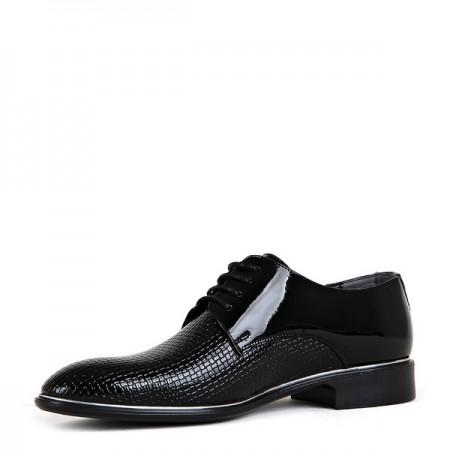 KND - Tamboğa 571 Erkek 20/K-Y Rugan Klasik Ayakkabı (10'lu) - Siyah