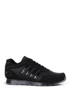 SA - Scot 200 Merdane 20/K Cilt Spor Ayakkabı - Siyah Siyah